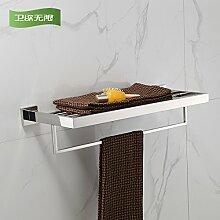 KHSKX Edelstahl Handtuchhalter Handtuchhalter Badezimmer Regal Regal Badezimmer Handtuchhalter 600*220*110mm