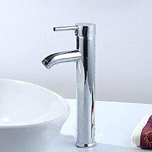 KHSKX-Edelstahl kaltes Wasser Waschtischmischer Bench-Mixed Wasserventil hochwertige Armaturen einen erhöhten Waschtisch Armatur Waschtisch Armatur aus Edelstahl