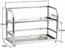 KHSKX edelstahl - regal, küche, multifunktionalen doppel - regal, bad storage rack,230mm 330 (160)