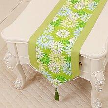 KHSKX einfache pastoralen tabelle flagge, tischdecke, kaffee, tischdecken, bett - flagge, kabinett flagge, tabelle matte, langen tisch tuch,ein,33 * 230cm
