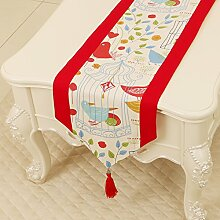 KHSKX einfache pastoralen tabelle flagge, tischdecke, kaffee, tischdecken, bett - flagge, kabinett flagge, tabelle matte, langen tisch tuch,l,33 * 200
