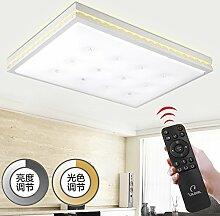 KHSKX Einfache quadratische LED Acryl Decke Lampe Licht Leuchte Wohnzimmer Schlafzimmer moderne Beleuchtung 51*51cm