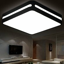 KHSKX Einfache rechteckige Wohnzimmer Lampe Design LED Deckenleuchte Schlafzimmer, moderne Licht , Single Head