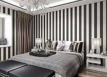 KHSKX-Einfache Vertikalen Streifen Aus Tapete, Wohnzimmer Voller Schlafzimmer Tapete 10 * 0.53M,B