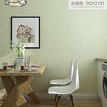 KHSKX-Einfarbig Tapete Schlafzimmer Tv - Kulisse Schlicht Modernen Minimalistischen Gewobenen Stoff Wallpaper Wallpaper,E