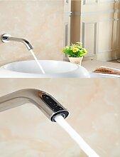 khskx Elektronische Automatische Sense Waschbecken Armatur Wandhalterung Wasser sparen Wasserhahn Akku oder 220V Power silber