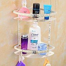 KHSKX Europäische falten Handtuchhalter Handtuchhalter weiß Metall bad accessoires badezimmer WC-Papierhalter wc-bürste Föhn Rack handtuchring Handtuchhalter Seifenschale , J