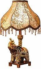 KHSKX Europäische Nachttischlampe, Tischlampe Schlafzimmer, Harz-Lampe,Königin,Dimmer-Schalter