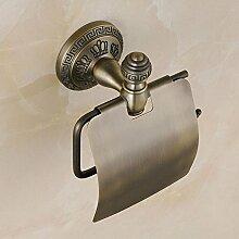 KHSKX Europäischen antike Kupfer Badezimmer Accessoires Papierhalter