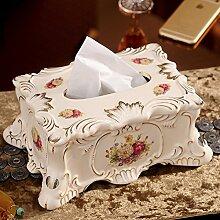 KHSKX-Europäischen Keramik - Papier Box Wohnzimmer Tisch Serviette Box Bad Decor Inneneinrichtungsgegenstände Kreative Box OrnamenteB