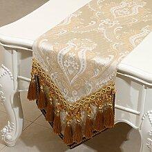 KHSKX europäischen stil tabelle flagge, amerikanische placemat, kissen, mittelmeer - tabelle couchtisch flagge, bett - flagge,b,33 * 300cm