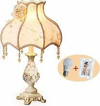 KHSKX Europäischen Stil Tischlampe, Harz kreative Lampe, dekorative LED-Leuchten, 33 * 53CM,H