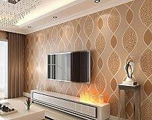 KHSKX-Film Wall - Tapete, 3D - Stereoskopische Wohnzimmer, Tv Hintergrund Tapete Aus Stoff, Moderne Gestreifte Tapete, 10 * 0.53M,Ein