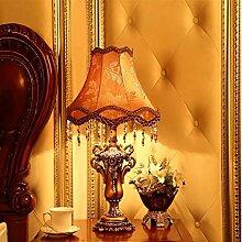 KHSKX Harz Wohnzimmer Schlafzimmer Nachttisch-Lampe, Hochzeit Geschenk Lampe,B2