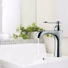 KHSKX Heiß und kalt Wasserhahn Kupfer Waschbecken WC-Armatur Wasserhahn heißen und kalten Wasserhahn