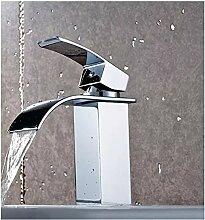KHSKX-Heiße und kalte Dusche einzelne Bohrung am Waschbecken waschen das Gesicht Becken Quartett voll Kupfer Beschläge