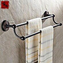 KHSKX Im europäischen Stil mit antiken Accessoires Badezimmer Badezimmer Badezimmer Regal mit Kupfer Bronze Handtuchhalter 600*130mm , B