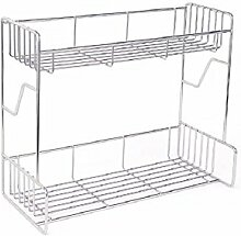 KHSKX küchen - regal, double layer würzen rack, 304 stainless steel - gewürz - rack, küche - regal