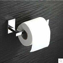 KHSKX Kupfer-Quadrat Toilettenpapier Halter verchromt Handtuch Rack Bad-Accessoires