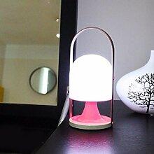 KHSKX Laden Sie mobile Nachtlicht, Nachttischlampe Schlafzimmer, Baby Baby Baby füttern Auge-Lampe, Nacht Touch Lampe Dimmen auf,Rosa