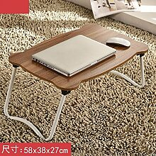 KHSKX Laptop-Schreibtisch, Bett mit einfachen Tisch, moderner Klapptisch Schlafsaal faul, lernen kleiner Schreibtisch,6