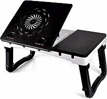 KHSKX Laptop-Schreibtisch, Tablet-Computer-Schreibtisch, Bett Falten kleiner Schreibtisch, faul Tisch mit Kühler, 560 * 330 * 330 mm,10