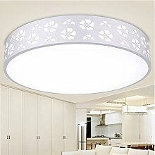 KHSKX Led Deckenleuchte einfache und elegante Schlafzimmer Wohnzimmer Lampe leuchtet das runde Restaurant deko Lampe 48cm