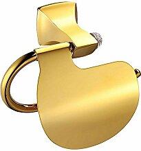 KHSKX Luxus golden Gürtel Drill Kupfer Badezimmer für Toilettenpapierhalter