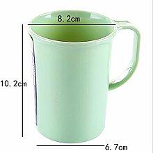 KHSKX-Mit Einfachen Regeln Shukoubei Zähneputzen, Waschen - Cup Cup Paare Tragbare Plastik Zahnbürste Cup Zahn - Becher,green