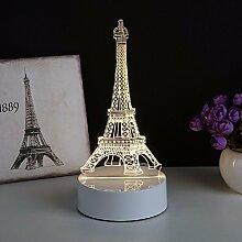 KHSKX Nordische einfache 3d kleine Lampe, Europäische Neuheit Nachtlicht, personalisierte kreative Schlafzimmer Lampe, Geburtstag Geschenk Lampe,1
