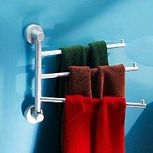 KHSKX Platz Aktivität von Aluminium Handtuchhalter 3 Stangen gedreht bad accessoires badezimmer Handtuchhalter rack