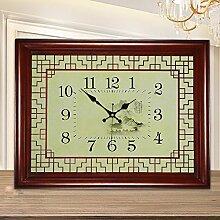 KHSKX Qing-Dynastie chinesische Mauer Uhr Tisch hohle Mode Mode überdimensionale Uhr moderne Wohnzimmer Tische Antike klassische Wanduhr