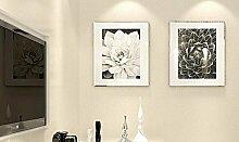 KHSKX-Reine Seide Aus Tapete Wohnzimmer Hintergrund Tapete Schlicht Modernen Minimalistischen Schlafzimmer Frische Tapeten 10 * 0.53M,H