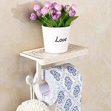 KHSKX Retro gefalteten weißen Handtuchhalter Stil Badezimmer Handtuchhalter Handtuchhalter Regal Aktivitäten Kabel wc Papierrollenhalter Seifenhalter Handtuchring Handtuchhalter , N