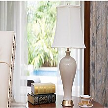 KHSKX Schlafzimmer Bett Lampe, kreative Keramik Lampe, moderne führte Wohnzimmerlampe, keramische lamp.33*56CM,B
