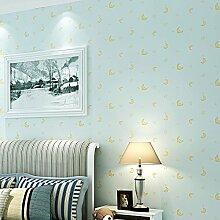 KHSKX Tapete Kinder Zimmer Schlafzimmer Sterne Mond jungen und Mädchen Cartoon Tapeten (10 * 0 53 m) A