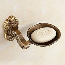KHSKX Vintage Box-Seife Seife wie Bronze Seifenschale SEIFE NET Metall bad accessoires badezimmer Zubehör