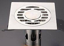 KHSKX-Waschmaschine T-Armatur Am Bodenablauf Abdeckung Undicht, Edelstahl Deos Spiegel 10*10 Cm, Leckage