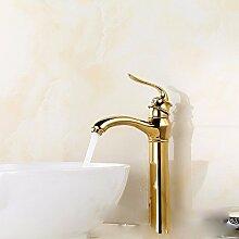 KHSKX-Waschtisch Armatur Gold Heiße und kalte Dusche