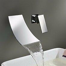 KHSKX Wasserfall mit heißem und kaltem Wasser Waschbecken tippen Sie auf