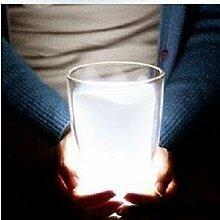 KHSKXkreative persönlichkeit schlafzimmer lampe leuchten lampe mit lampe, eine studie moderne mode, weiße milch cup nachtlich