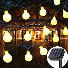 KHTO Solar Lichterkette 23 ft 50 LED sphärische