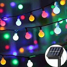 KHTO Solar Lichterkette 23ft 50 LED sphärische