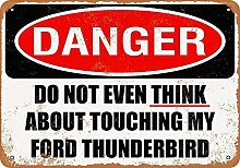 Kia Haop Do Not Touch My Ford Thunderbird Metall