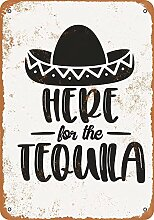 Kia Haop Here for The Tequila Metall Blechschild
