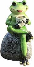 KiaoTime Creative Green Frosch sitzend auf Stein