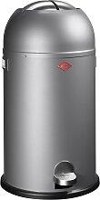 Kickmaster - 33 Liter - Mülleimer- Silber