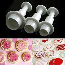 Kicode Fondant Zucker Handwerk Kuchen Dekor Icing Kolbenschneider Backform Set für Küche Zuhause