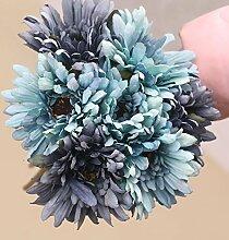 Kicode Gänseblümchen-Blumen-Bouquet Künstlich Hochzeit Dekorieren Pflanze Party Startseite Zubehör Arrangemen