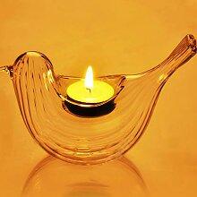 Kicode Kerzenhalter Leuchter Kerzenlicht Dekor Streifen Design Vogelform Romantisch Teelichtsten